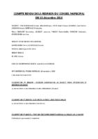CR CM 15-12-16compte rendu du conseil municipal du 15 décembre 2016