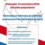 Cérémonie du 11 novembre : 100 ans