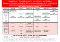 MODIFICATION DES COLLECTES À PARTIR DU 27 AVRIL
