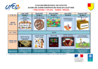 Planning d'activités 4-5 ans