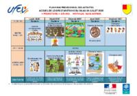 Planning d'activités 6-8 ans